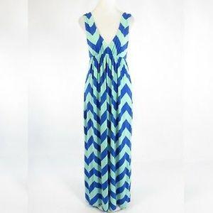 J. CREW Chevron Maxi Dress